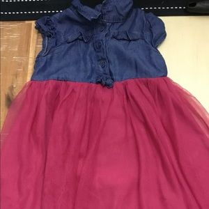First impressions tulle denim dress 24months